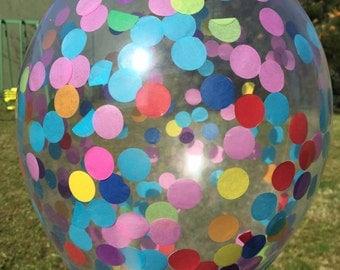 Confetti Balloon - Rainbow Party Decoration