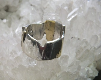 Silver/ brass ring, size 9~1/2