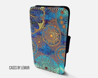 BOHEMIAN Iphone 6 Wallet Case Leather Iphone 6 Case Leather Iphone 6 Flip Case Iphone 6 Leather Wallet Case Iphone 6 Leather Sleeve Cover