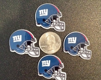 New York NY Giants Helmets Flatback Resins Cabochans Hair Bows, Ponytail holders, Scrapbooking, Cupcakes, etc.