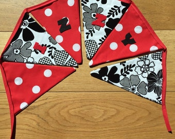 Personalised bunting. Any colours. Made to order.
