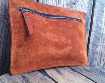 "Pouch ""Elsa"" in honey nubuck"