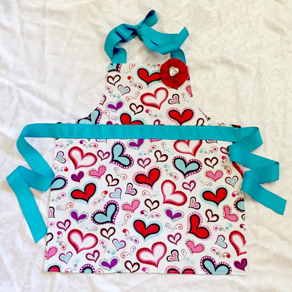 Apron For Girls, Valentine Apron 100% Cotton Fabric And Quality Grosgrain  Ribbons Make A Lovely Reversible For Your Girl. Perfect For Helping In The  Kitchen ...