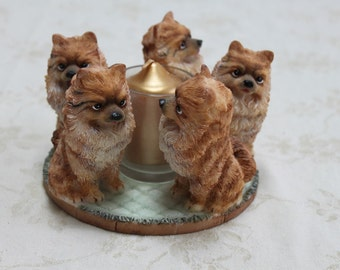 Pomeranian Candle Holder