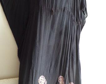Indian Tie Dye Kaftan Caftan Butterfly Farasha Dress Casual Beach coverup