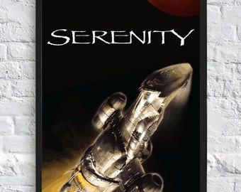 Firefly Inspired Poster - Serenity - A4 - TV Poster
