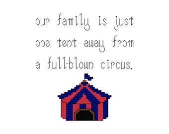 Circus Family PDF PATTERN only