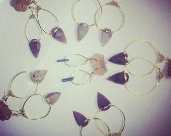 Arrowhead Hoop Earrings.