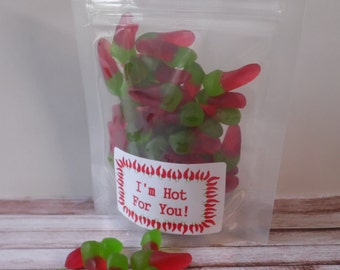 Hot Chilli Pepper Jelly Sweets - 100gr Pouch - Novelty Gift