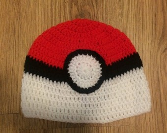 Pokeball hat, Pokemon beanie