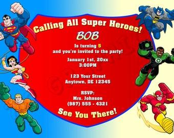 Super Friends Birthday Invitation - Printable