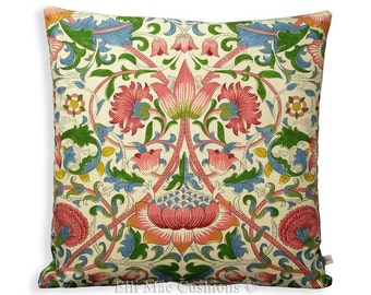 "William Morris Fabric Cushion Cover Pink ""Lodden"" Designer Sofa Throw Pillow"