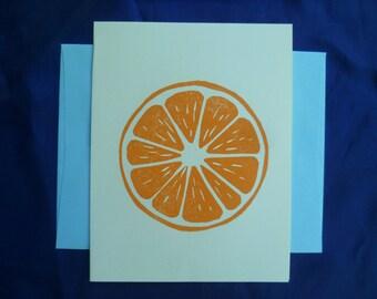 Orange Slice Notecard