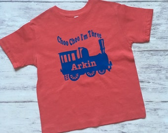 Choo choo train birthday shirt, train t-shirt, train shirt, train birthday party, choo choo train party, choo choo I'm two, train birthday