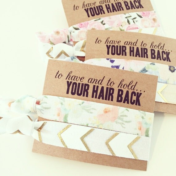 ASSORTED BOHO + FLORAL Hair Tie Favors   Bridesmaid Gift Hair Ties   Bridal Party Hair Ties, Hair Tie Bridal Shower Favors, Boho Wedding