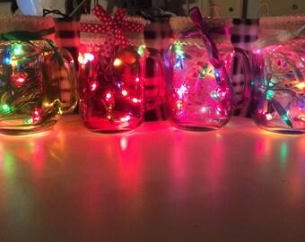Beautiful mason jar lights