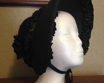 Civil War Mourning Bonnet