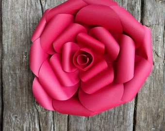 40cm GIANT PAPER FLOWER 40cm diameter Red Rose 706-028 for Wedding Photo Backdrop