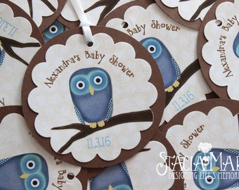 Owl Baby Shower Favor Tags
