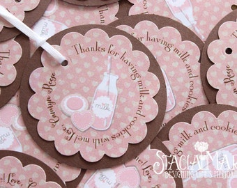 Milk and Cookie Birthday Favor Tags