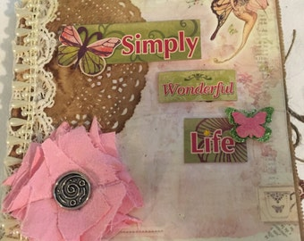 Fairy Paper Bag photo album/journal