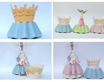 Reduced! Pretty Lace Fairy Cake/Cupcake Wraps in Different Designs.