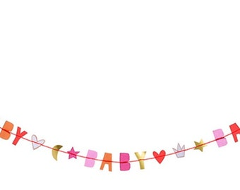 Luxury Greeting Card: Baby Girl Garland