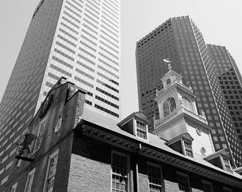 Boston Photography, Black and White, Faneuil Hall, Architecture, Boston Photo, Marketplace, Fine Art Print, Wall Art, Home Decor
