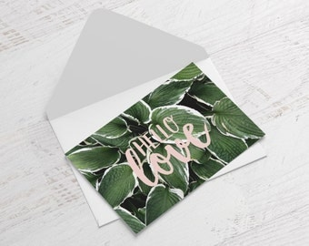 Hello love greeting card