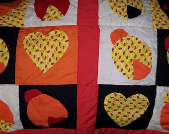 Ladybug Quilt handsewn. An original pattern.