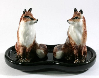 Fox, salt and pepper shakers -  2967
