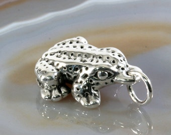 Frog, pendant, 925 sterling silver, electroforming - 4782