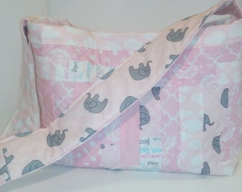 Quilted Pink Diaper Bag