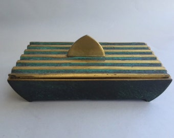 Beautiful Solid Brass Oppenheim Covered Box
