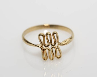 Modernist Triple Loop Ring