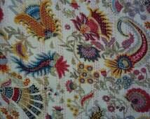 Paisley Print Handmade Kantha Quilt /Throw/ Blanket from India boho/ hippie/ chic  birthday/ anniversary/housewarming