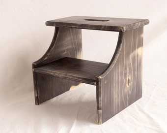 Step Stool - Wooden - 2 Step - Pine