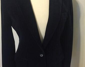 Gorgeous Velvet Dark Navy Vintage Blazer