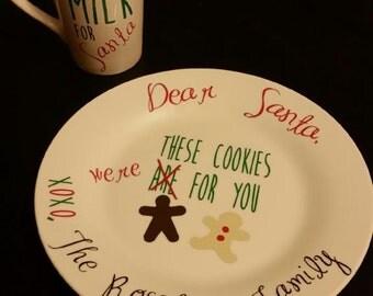 Santa's Cookies Plate and Mug Set