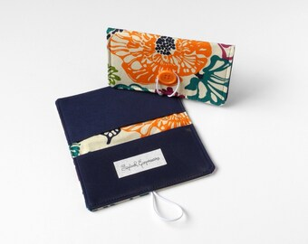 Cute Checkbook Cover, Carbon Copy Duplicate Check Purse Accessory Fabric Checkbook Gift for Her Pretty Accessory Gift Under 20 Jewel Tones