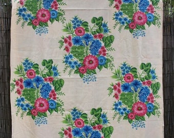 Vintage Soviet Cotton Fabric, By the METER/YARD Russian Curtain Fabric, Tablecloth Fabric, Home Decor Fabric