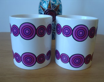 Mug set of 2 11oz ceramic mugs