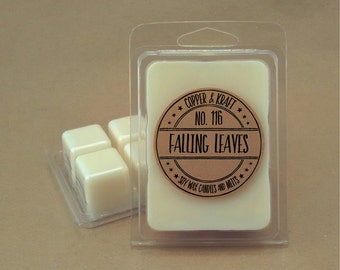 No. 116 FALLING LEAVES // Soy Wax Melt // Soy Wax Tarts // Highly Scented Wax Melts