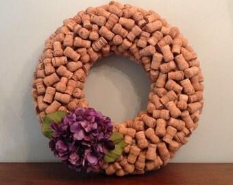Champagne Cork Wreath
