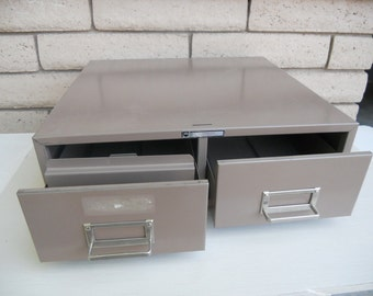 Vintage Industrial File Cabinet 2-Drawer Storage Steelmaster