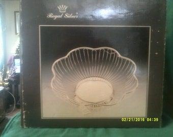 Vintage Regal Silverplated Decorative Wire Basket