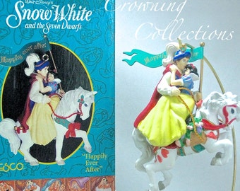 Enesco Disney Snow White Ornament Happily Ever After Princess Prince Horse 7 Dwarfs Seven Dwarves