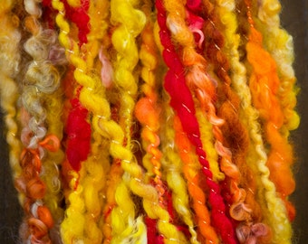 Fiery Flame Handspun Yarn