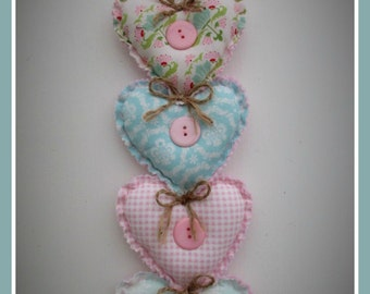Lovehearts 4 heart drop cascades,idea for gift,pretty up a wall or door decoration.
