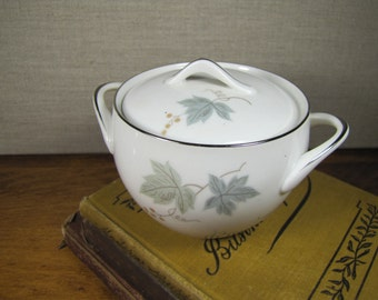 Vintage Sango Covered Sugar Dish - Claire Pattern - Leaf and Berry